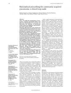 Rationalised prescribing for community acquired ... - Europe PMC