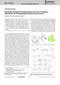 Rationally Designed Solvatochromic ... - Wiley Online Library