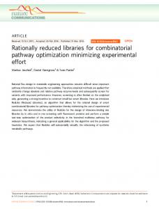 Rationally reduced libraries for combinatorial ... - Semantic Scholar