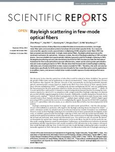 Rayleigh scattering in few-mode optical fibers