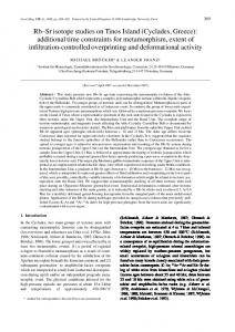Rb–Sr isotope studies on Tinos Island (Cyclades, Greece): additional ...