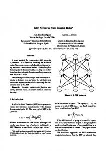 RBF Networks from Boosted Rules - Semantic Scholar