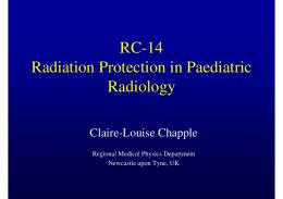 RC-14 Radiation Protection in Paediatric Radiology