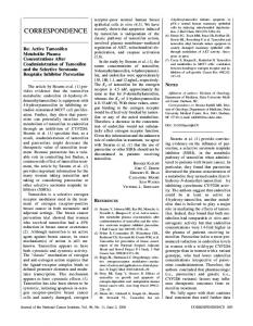 Re: Active Tamoxifen Metabolite Plasma Concentrations After ...