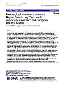 Re-emerging Lassa fever outbreaks in Nigeria - Infectious Diseases of ...