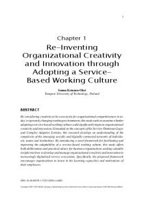 Re-Inventing Organizational Creativity and Innovation ...