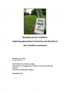 Reaching out for resilience: Exploring ... - Transition Network