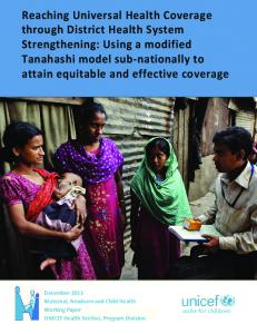 Reaching Universal Health Coverage through District ...