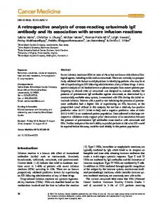 reacting cetuximab IgE antibody and its ... - Wiley Online Library