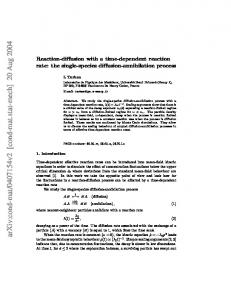 Reaction-diffusion with a time-dependent reaction rate: the single