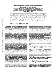 Reaction dynamics through kinetic transition states