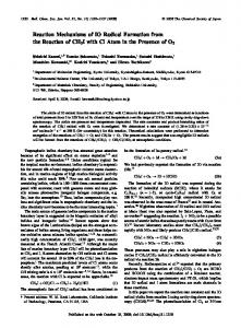 Reaction Mechanisms of IO Radical Formation from the Reaction of ...