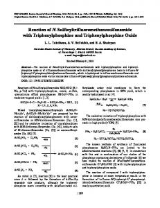Reaction of N-Sulfinyltrifluoromethanesulfonamide with ... - Springer Link
