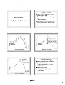 Reaction Rate Collision Theory Activation Energy