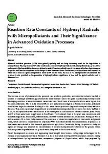 Reaction Rate Constants of Hydroxyl Radicals with ...