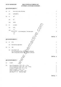 Reactions and Formulae - Chemactive