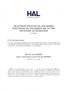 REACTIONS INDUCED BY POLARIZED