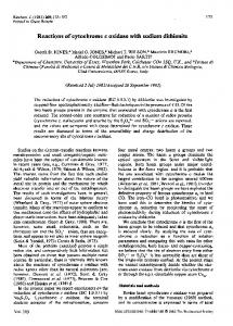 Reactions of cytochrome c oxidase with sodium dithionite - Europe PMC