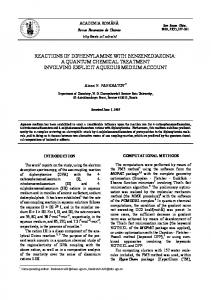 reactions of diphenylamine with benzenediazonia - Revue Roumaine