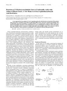 Reactions of N-Hydroxysuccinimide Esters of