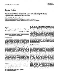 Reactions of Nitric Oxide with Copper ... - Wiley Online Library