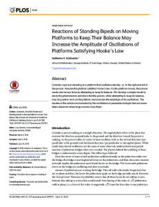 Reactions of Standing Bipeds on Moving Platforms to Keep Their ...