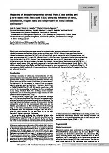 Reactions of thiosemicarbazones derived from β-keto amides and β ...