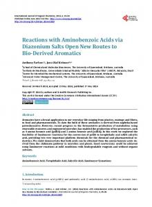 Reactions with Aminobenzoic Acids via Diazonium Salts Open New ...