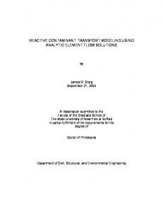 reactive contaminant transport modeling using analytic element flow ...