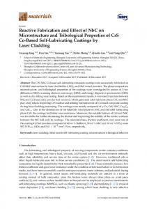 Reactive Fabrication and Effect of NbC on Microstructure and ... - MDPI