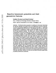 Reactive interatomic potentials and their geometrical features