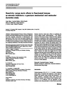 Reactivity versus steric effects in fluorinated