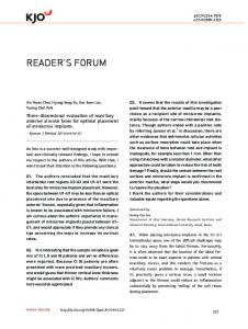 reader's forum - KoreaMed Synapse
