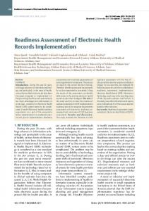 Readiness Assessment of Electronic Health Records ... - CiteSeerX