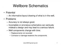 Reading a wellbore Schematic