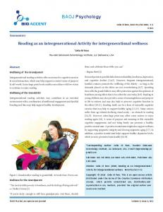 Reading as an intergenerational Activity for intergenerational wellness