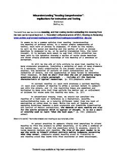 Reading Comprehension - (SSRN) Papers
