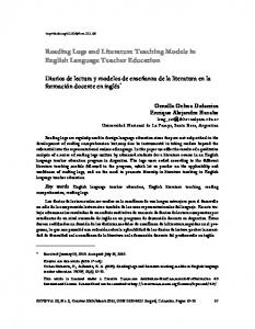 Reading Logs and Literature Teaching Models in English Language ...