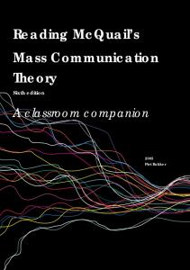 Reading McQuail's Mass Communication Theory - Sage Publications