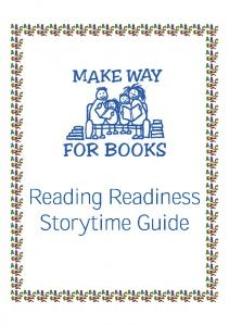 Reading Readiness Storytime Guide - Make Way for Books