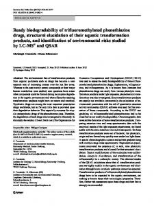 Ready biodegradability of trifluoromethylated phenothiazine drugs ...