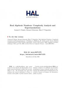 Real Algebraic Numbers: Complexity Analysis and