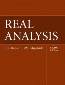 Real Analysis (4th ed, Royden and Fitzpatrick)