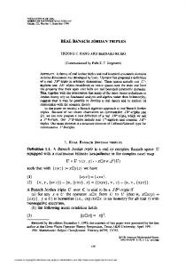 real banach jordan triples - American Mathematical Society