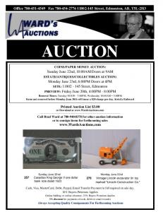 real estate auction - Ward's Auctions