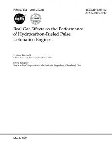 Real Gas Effects on the Performance of Hydrocarbon-Fueled Pulse ...