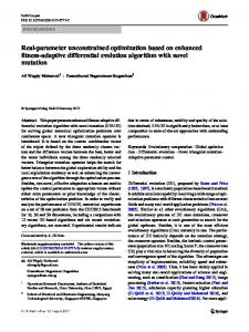Real-parameter unconstrained optimization based on enhanced ...