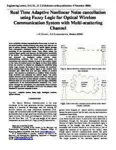 Real Time Adaptive Nonlinear Noise cancellation using Fuzzy Logic ...