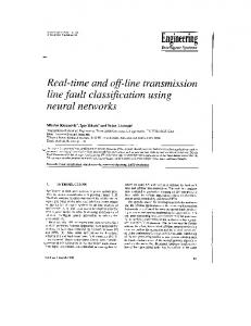 Real-Time and Off-Line Transmission Line Fault Classification Using ...