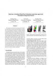 Real-time Articulated Hand Pose Estimation using Semi ... - CiteSeerX